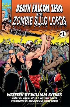 Death Falcon Zero vs the Zombie Sluglords book cover, small