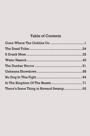 Gone Where the Goblins Go Table of Contents